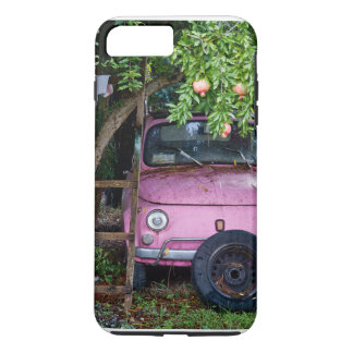 Pink Car Under Pomegranate Tree in Tuscany iPhone 7 Plus Case