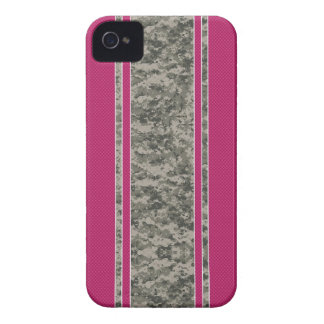 Pink Carbon Fiber & Camo iPhone 4 Case