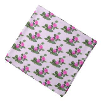 Pink Carnation Flowers Bandana