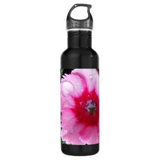 Pink Carnation in the Spring Rain Magenta Bloom 710 Ml Water Bottle
