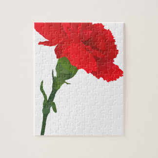 Pink Carnation Rose Jigsaw Puzzle