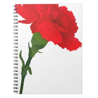 Pink Carnation Rose Notebook