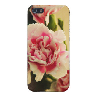 Pink Carnations and Your Name Personalized iPhone 5/5S Case