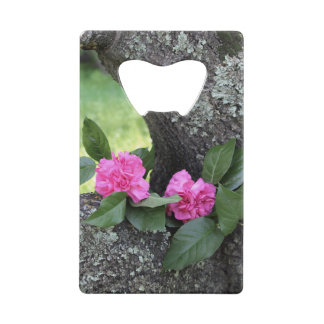 Pink Carnations Credit Card Bottle Opener