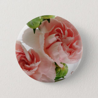 Pink Carnations Photograph 2 Inch Round Button