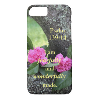 Pink Carnations Psalm Phone Case
