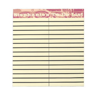 Pink Carnival Small To-Do and Shopping List Pad