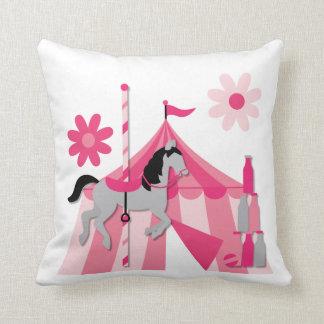 Pink Carousel Horse  Pillow