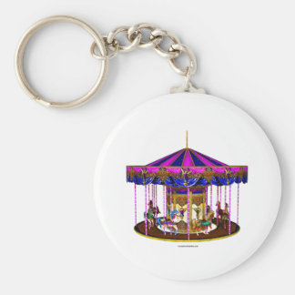 Pink Carousel Keychain