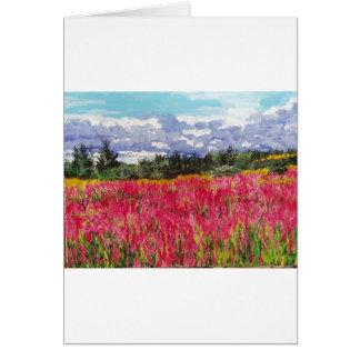 Pink Carpet Painting Card