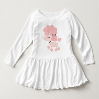 Pink Cartoon French Poodle Tee Shirt