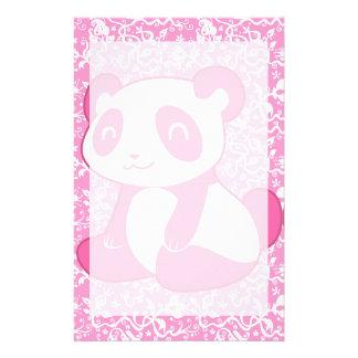 Pink Cartoon Panda Stationery