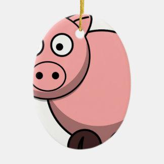 Pink cartoon Piggy Ceramic Ornament