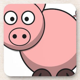 Pink cartoon Piggy Drink Coasters