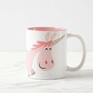 Pink Cartoon Unicorn  mug