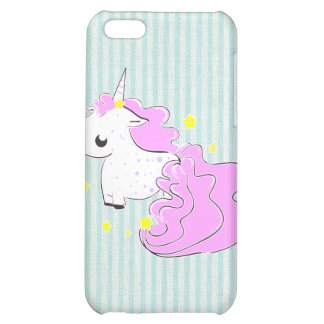 Pink cartoon unicorn with stars iPhone 4/4s Speck iPhone 5C Covers
