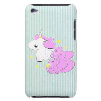 Pink cartoon unicorn with stars iPod Touch Speck iPod Case-Mate Cases