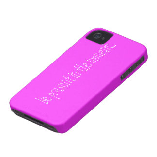Pink case with motivational phrase iPhone 4 case