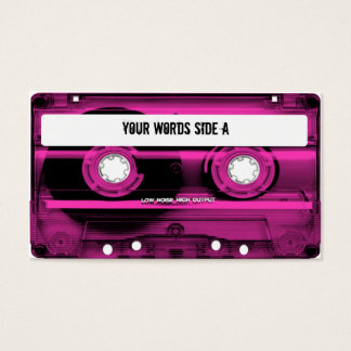 Pink Cassette Tape Personalized Business Card