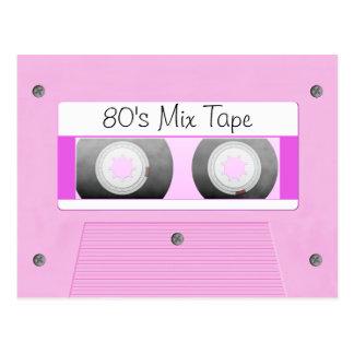 Pink Cassette Tape Postcard