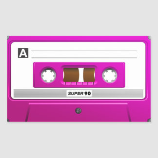 Pink cassette tape sticker