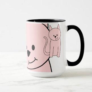 Pink Cat Cartoon Mug