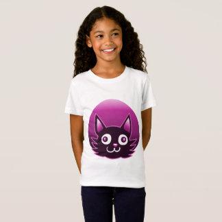 pink cat cartoon style vector illustration T-Shirt