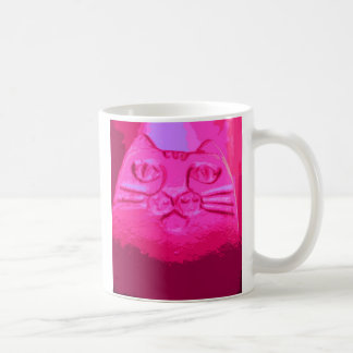 PINK CAT CLASSIC WHITE COFFEE MUG