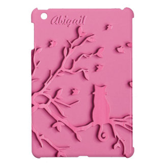 PINK CAT. CUSTOMIZABLE IPAD COVER FOR GIRLS