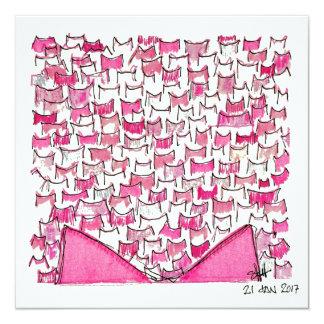 Pink Cat Ears Flat Card