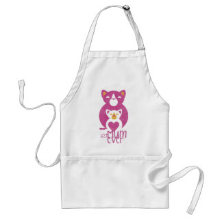 Pink cat mom standard apron