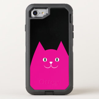 Pink Cat OtterBox Defender iPhone 7 Case