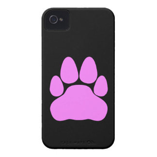 Pink Cat Paw Print Shape iPhone 4 Case-Mate Case