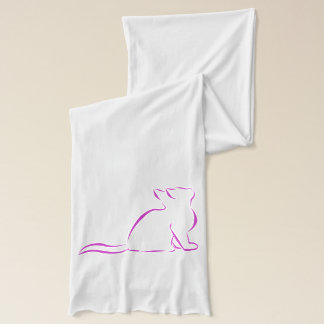 Pink cat sillhouette scarf