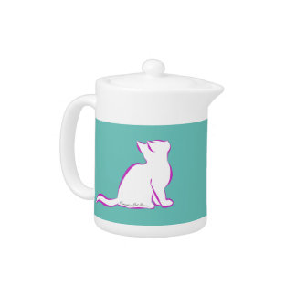 Pink cat, white fill, inside text