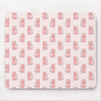 Pink Cats. Pattern Mouse Pad