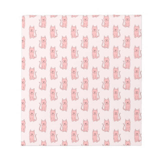 Pink Cats. Pattern Notepads