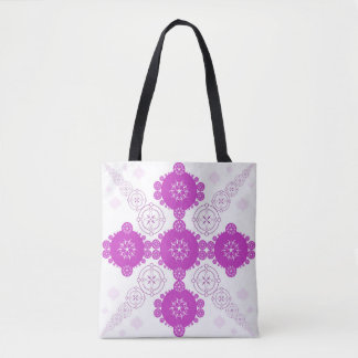 Pink Celtic Geometric Crop Circle Tote Bag