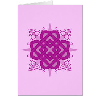 "Pink Celtic ""Quadheart"" Card"