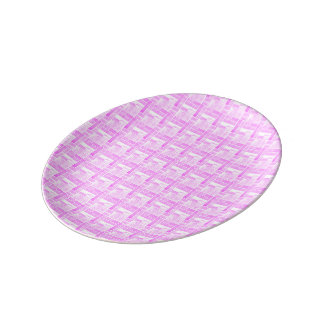Pink ceramic tiles effect porcelain plate