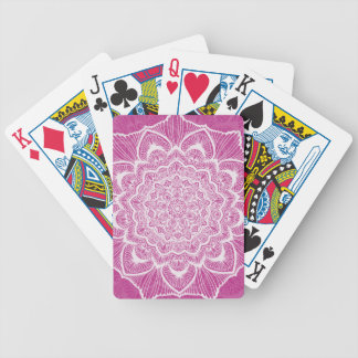 Pink Chakra Blossom, boho, new age, spiritual Bicycle Playing Cards