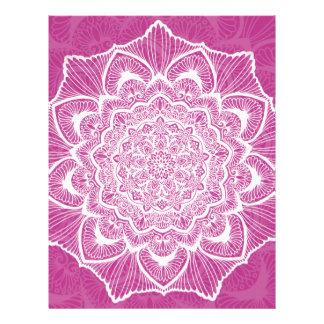 Pink Chakra Blossom, boho, new age, spiritual Letterhead