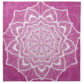 Pink Chakra Blossom, boho, new age, spiritual Napkin