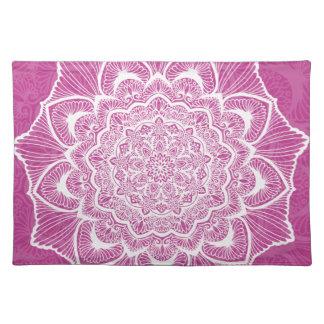 Pink Chakra Blossom, boho, new age, spiritual Placemat