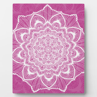 Pink Chakra Blossom, boho, new age, spiritual Plaque