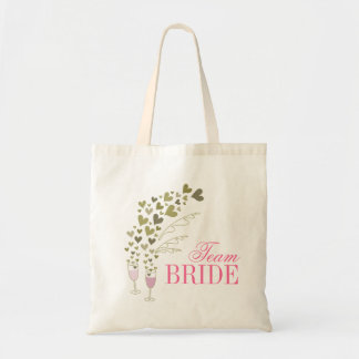 Pink Champagne Cheers Bachelorette Bridal Tote Bag