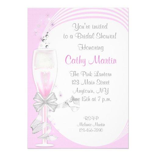 Pink Champagne Invite