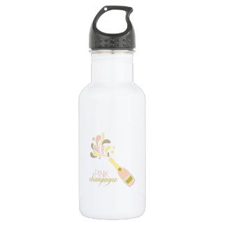 Pink Champagne 18oz Water Bottle