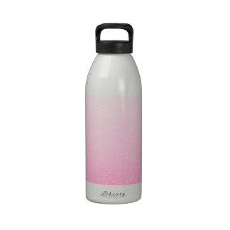 Pink Champagne with Tiny Bubbles Background Art Water Bottle