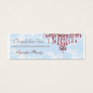 Pink Chandelier Business Card
